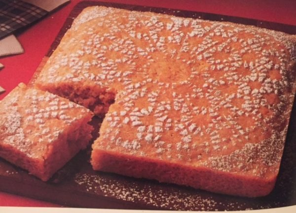 Carrot Snack Cake - Low Fat